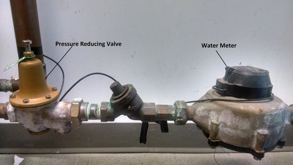 water pressure regulator valve location